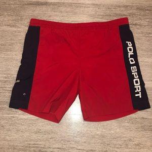 Polo Sport Ralph Lauren Vintage Red Swim Suit